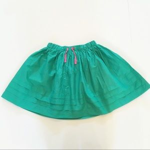 Mini boden green and pink skirt